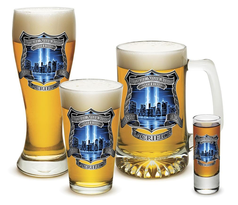 Tribute High Honor Police 4 Piece Glass Gift Set