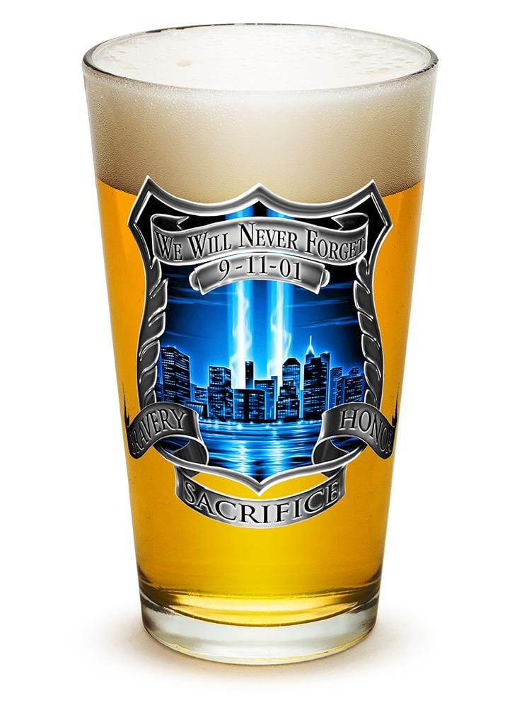 Tribute High Honor Police 16oz Pint Glass Glass Set