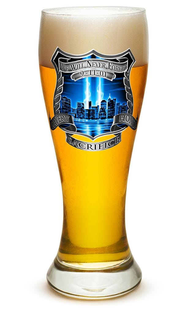 Tribute High Honor Police 23oz Pilsner Glass Glass Set