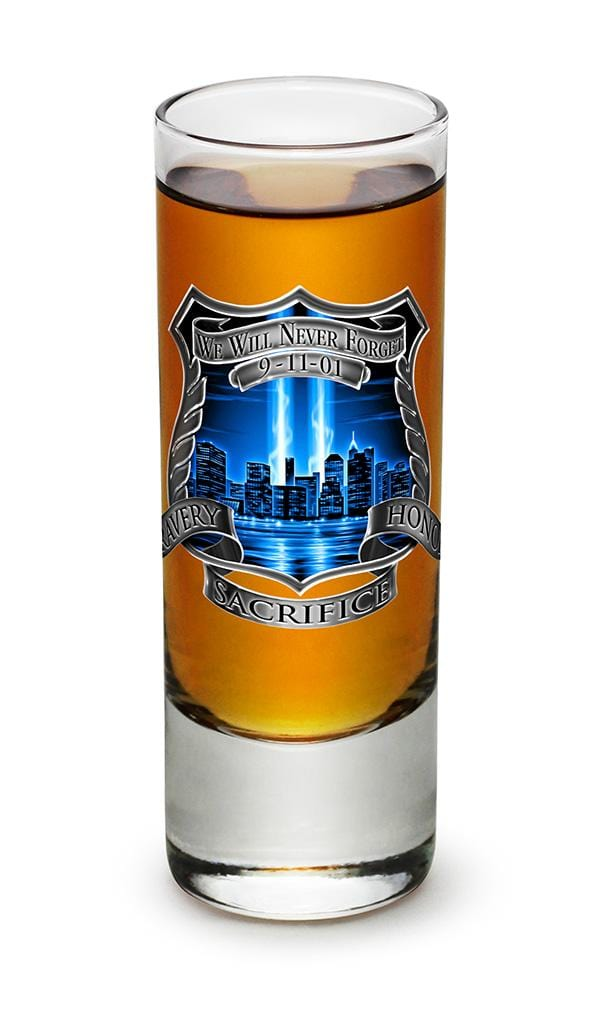 Tribute High Honor Police 2oz Shooter Shot Glass Glass Set