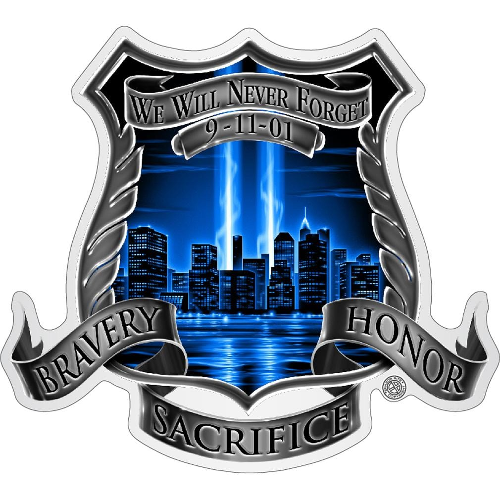 After Math 911 Police Premium Reflective Decal