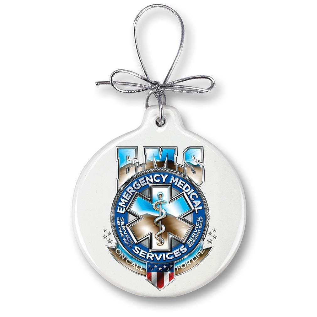 EMS Badge of Honor Christmas Tree Ornaments