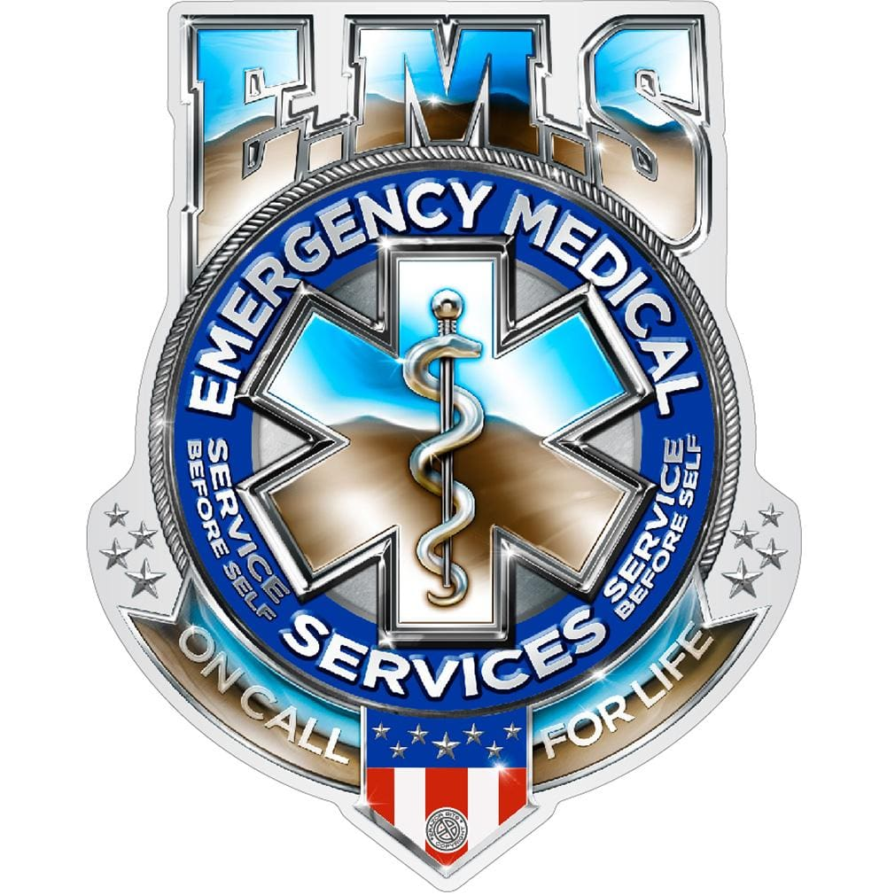 EMS Badge Of Honor Premium Reflective Decal