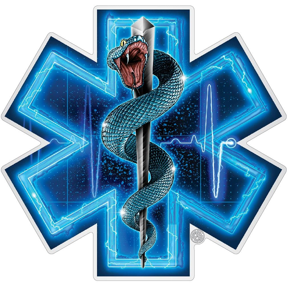 Silver Snake EMT Full Premium Reflective Decal
