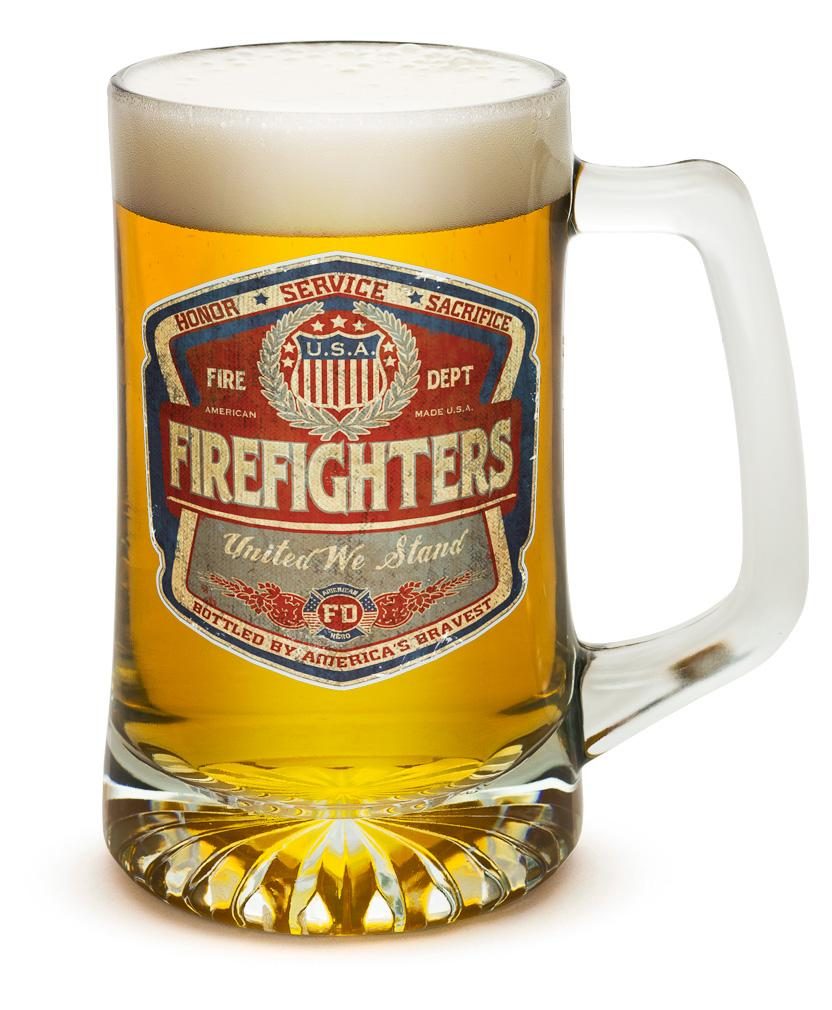 Denim Fade Beer Label 25oz Tankard Glass Set