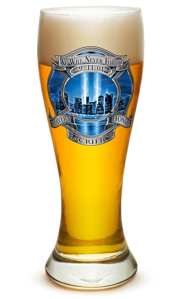 911 Firefighter Blue Skies 23oz Pilsner Glass Glass Set