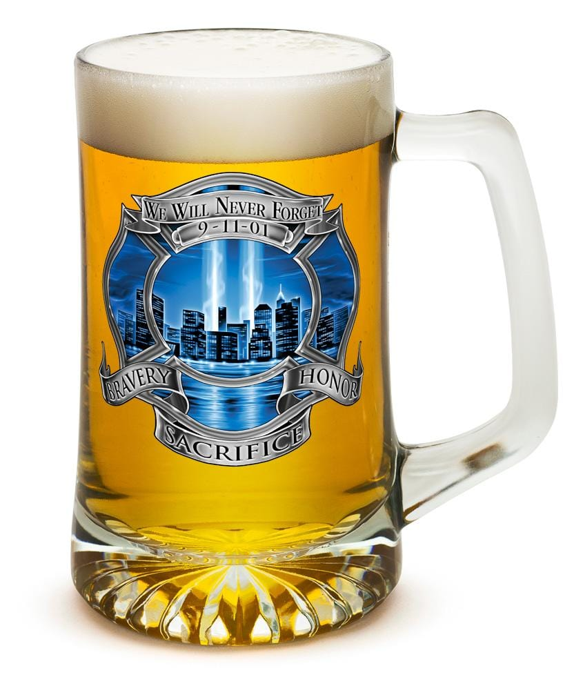 911 Firefighter Blue Skies 25oz Tankard Glass Set