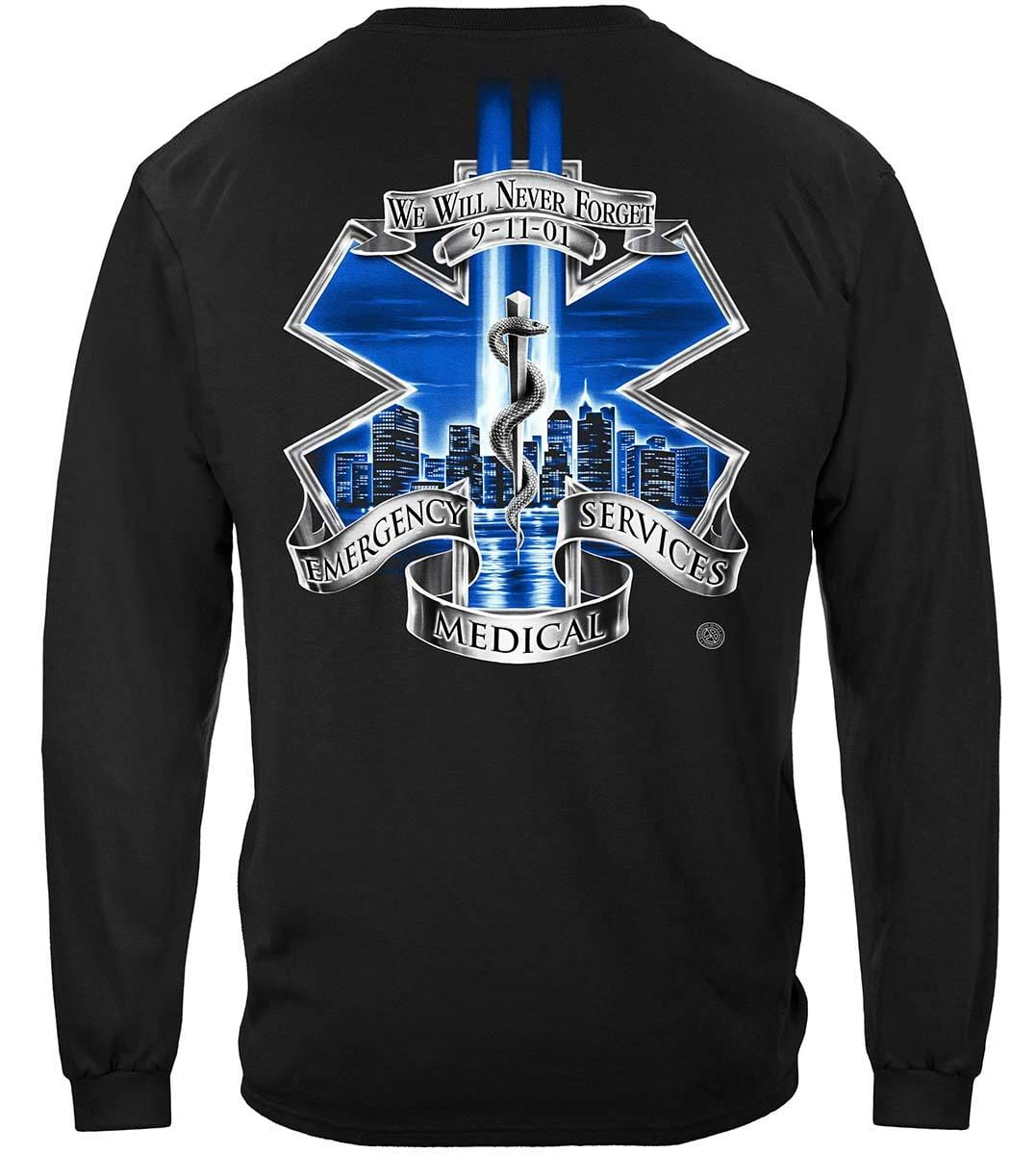 911 EMS Blue Skies We Will Never Forget Premium Long Sleeves