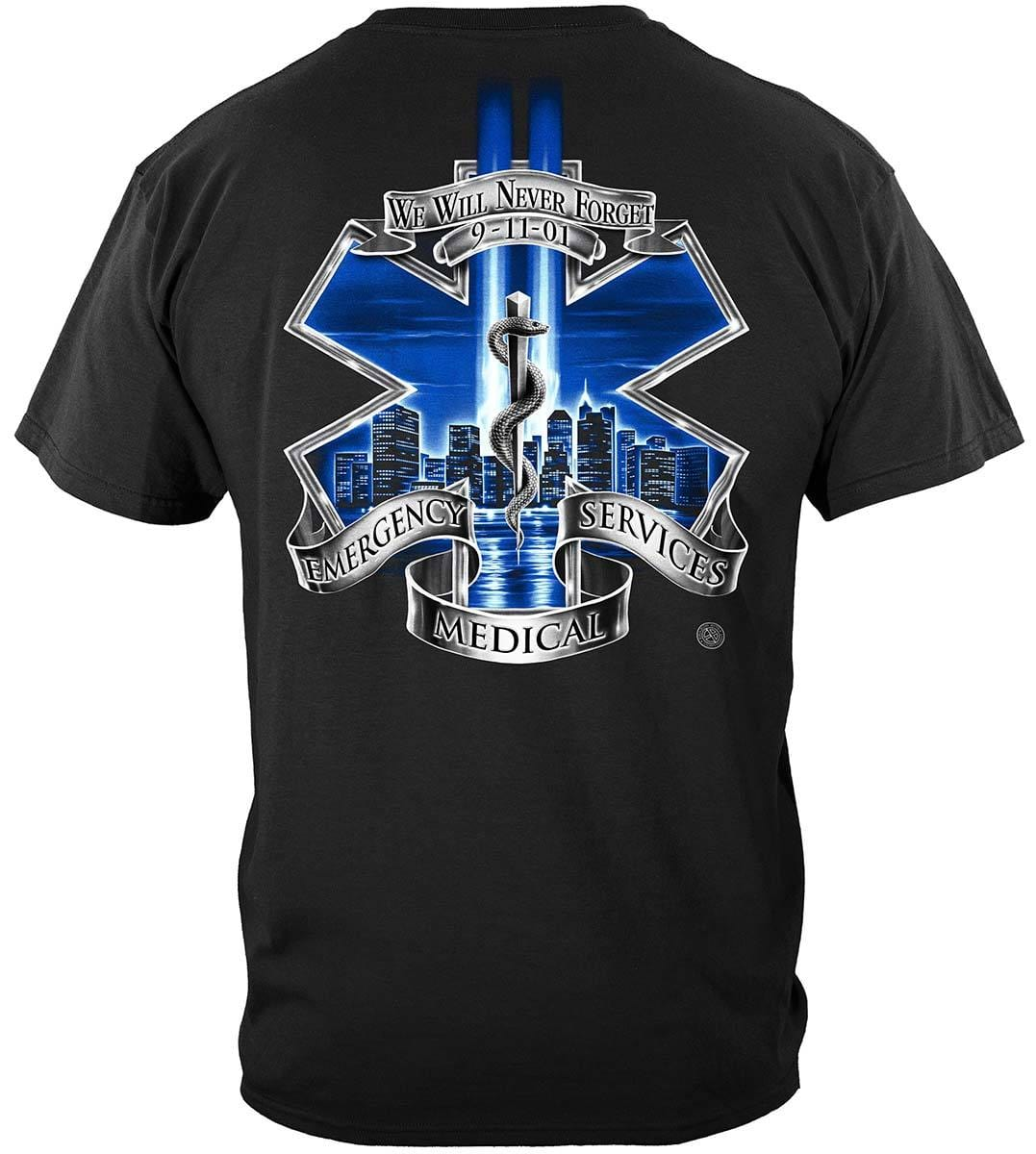 911 EMS Blue Skies We Will Never Forget Premium T-Shirt