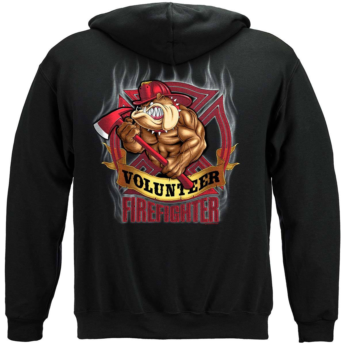 Fire Dog Volunteer Premium Hooded Sweat Shirt