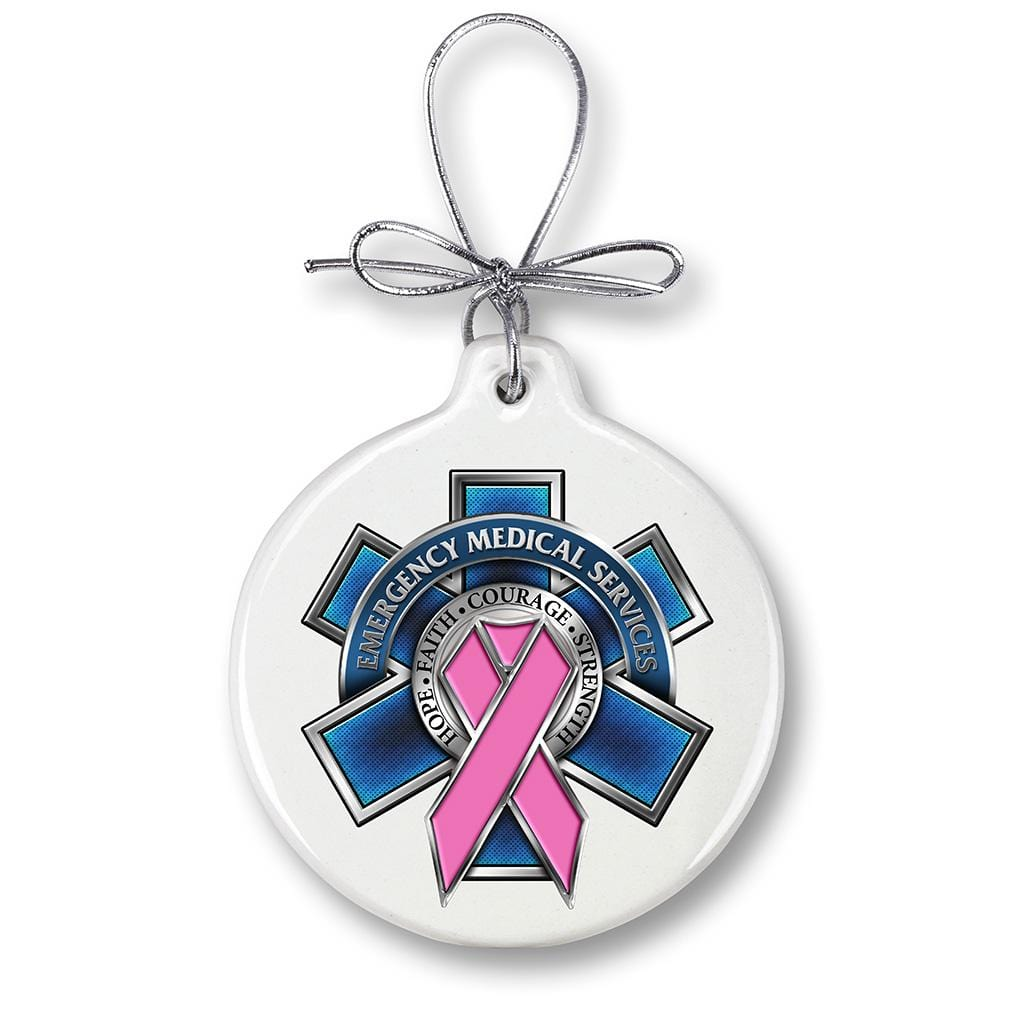 EMS Race For A Cure Christmas Tree Ornaments