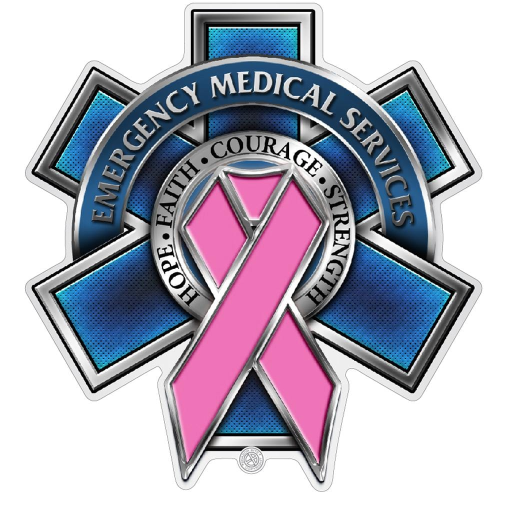 EMS Race For a Cure Premium Reflective Decal