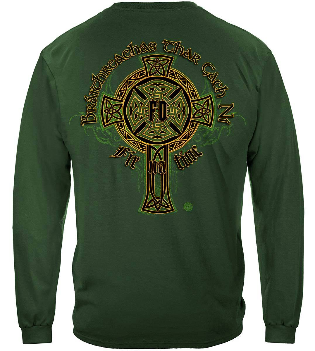 Irish Firefighter Gold Cross Premium Hooded Sweat Shirt