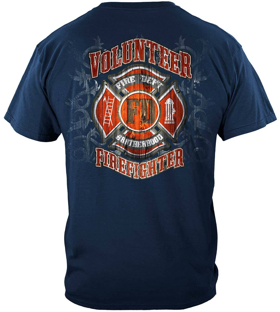 Fire Dept Faded Planks Premium Hooded Sweat Shirt