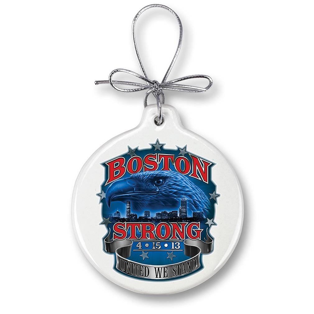 Boston Strong Christmas Tree Ornaments