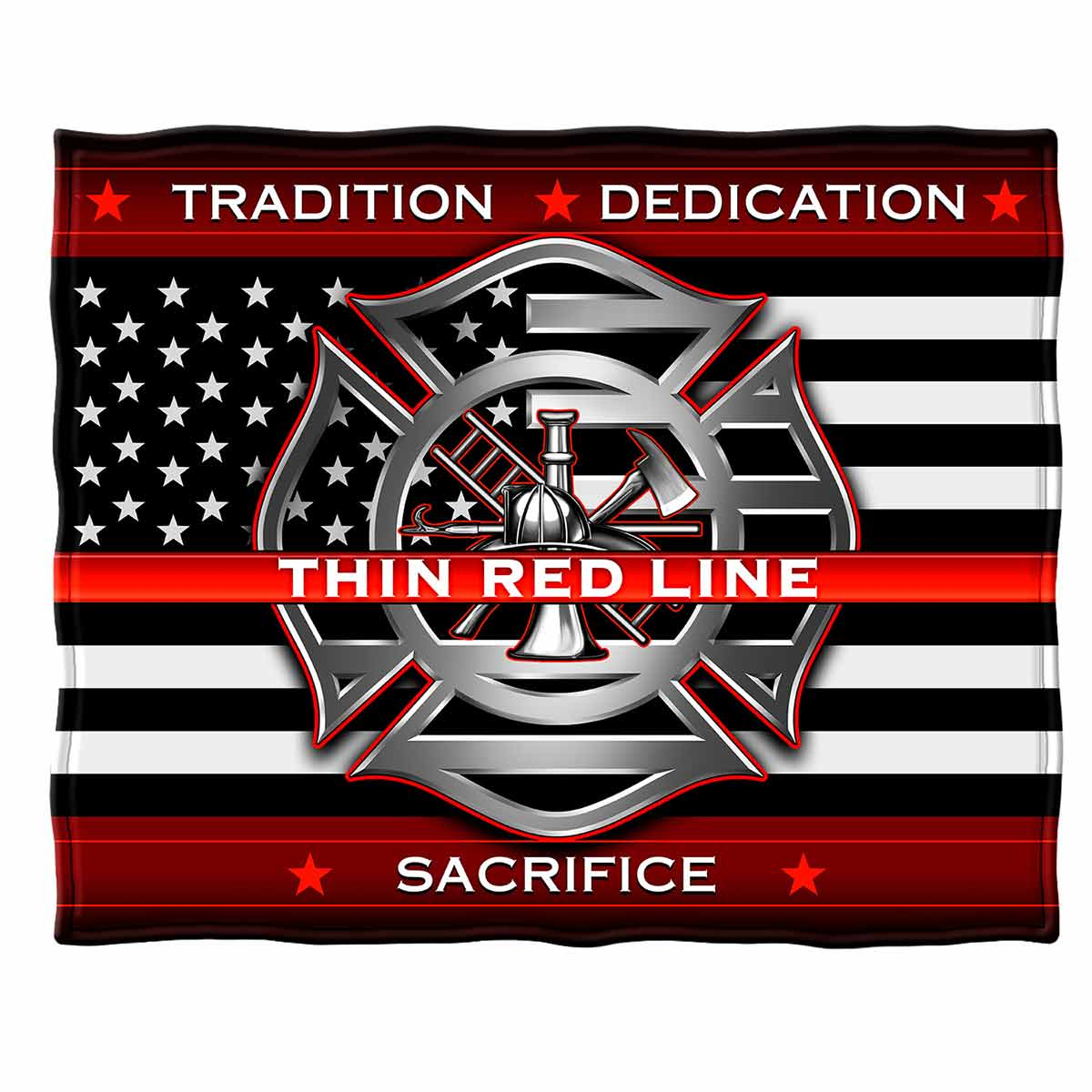 Thin Red Line Firefighter Premium Blanket