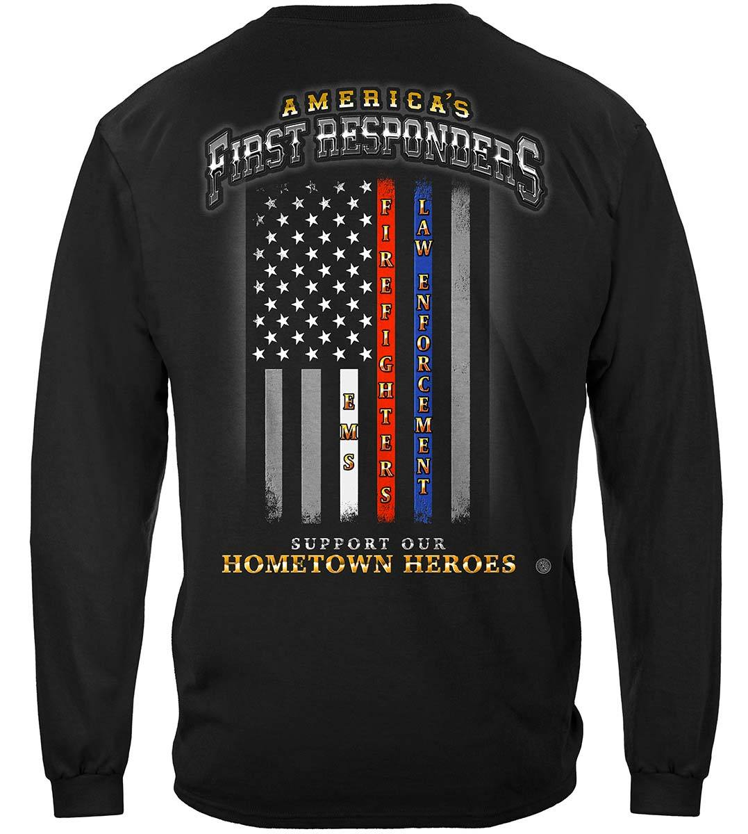 First Responder Flag of Honor Premium Long Sleeves