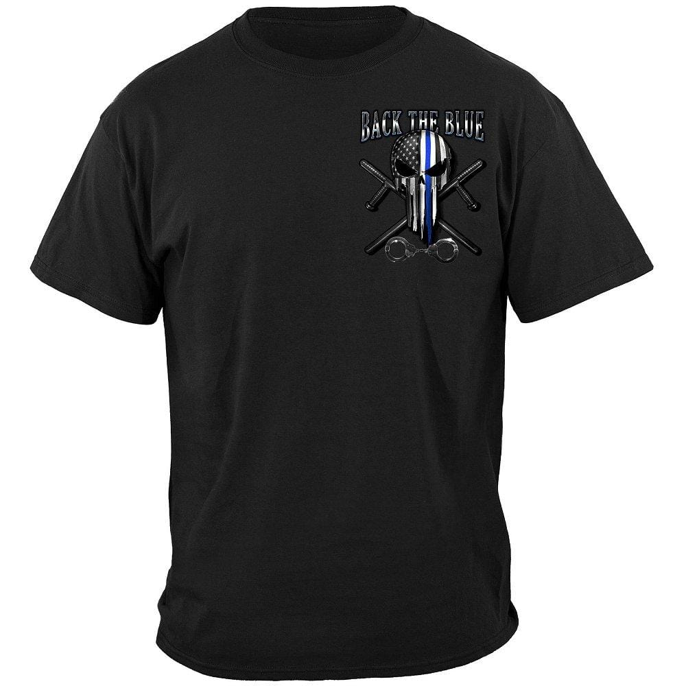 Law Enforcement Back the Blue Freedom Skull Premium T-Shirt