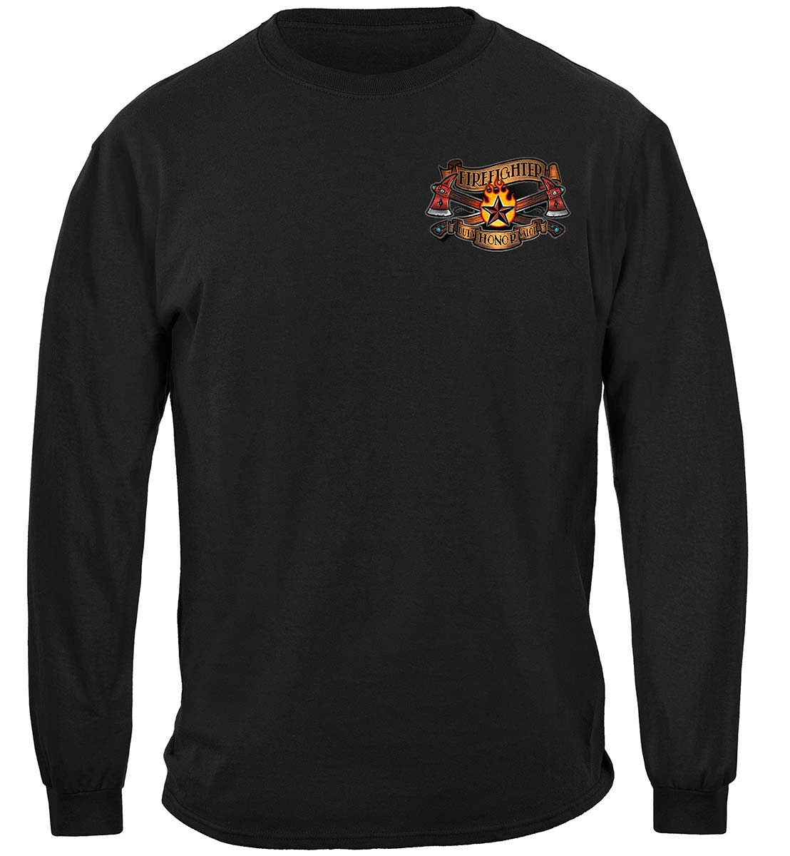 Firefighter Vintage Tattoo Art Premium Long Sleeves