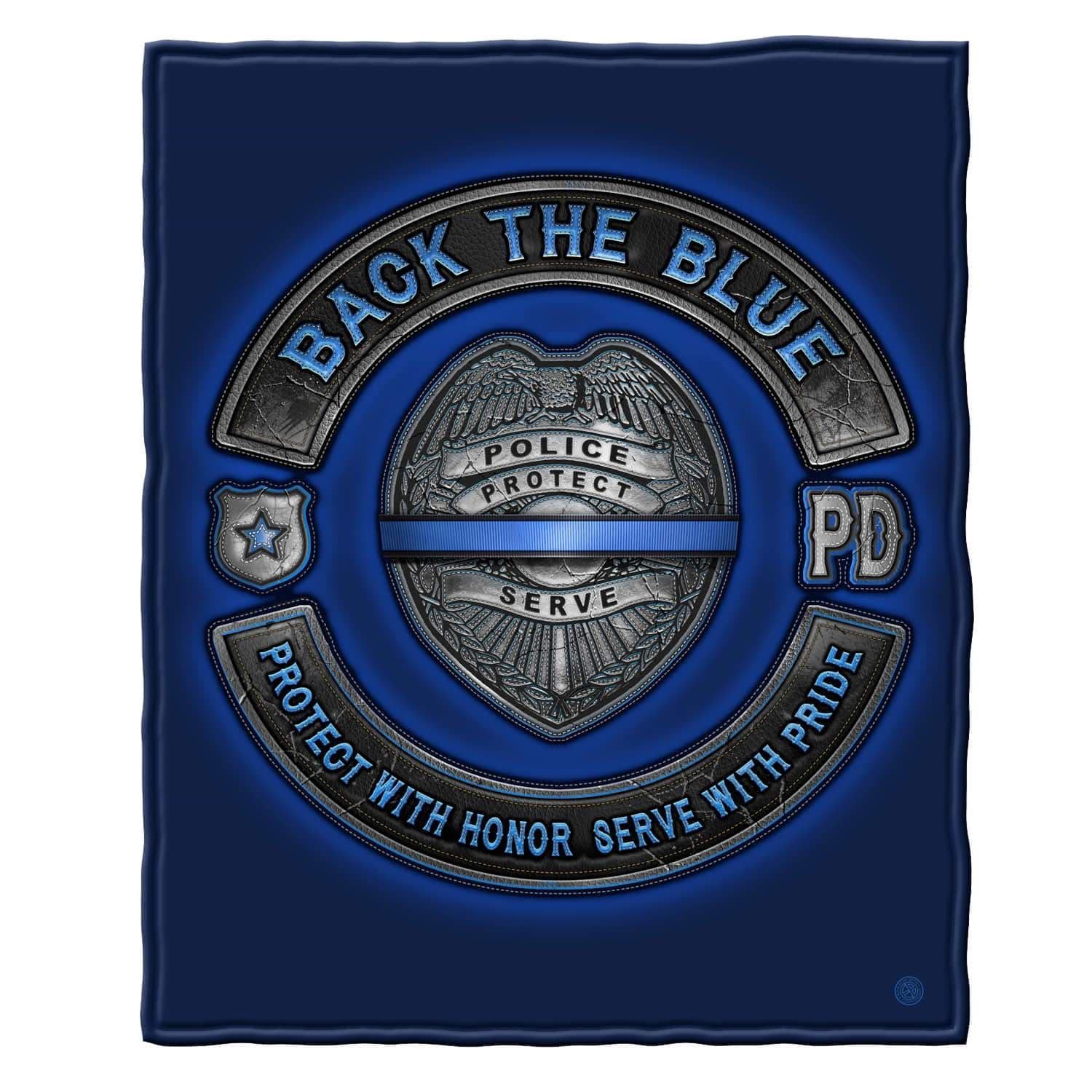 Back the Blue Law Enforcement Blue Lives Matter Premium Plush Blanket