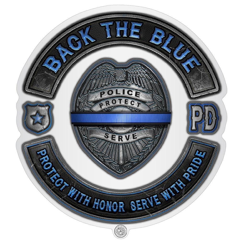 Back the Blue Law enforcement Blue lives Mater Serve and Protect Premium Reflective Decal
