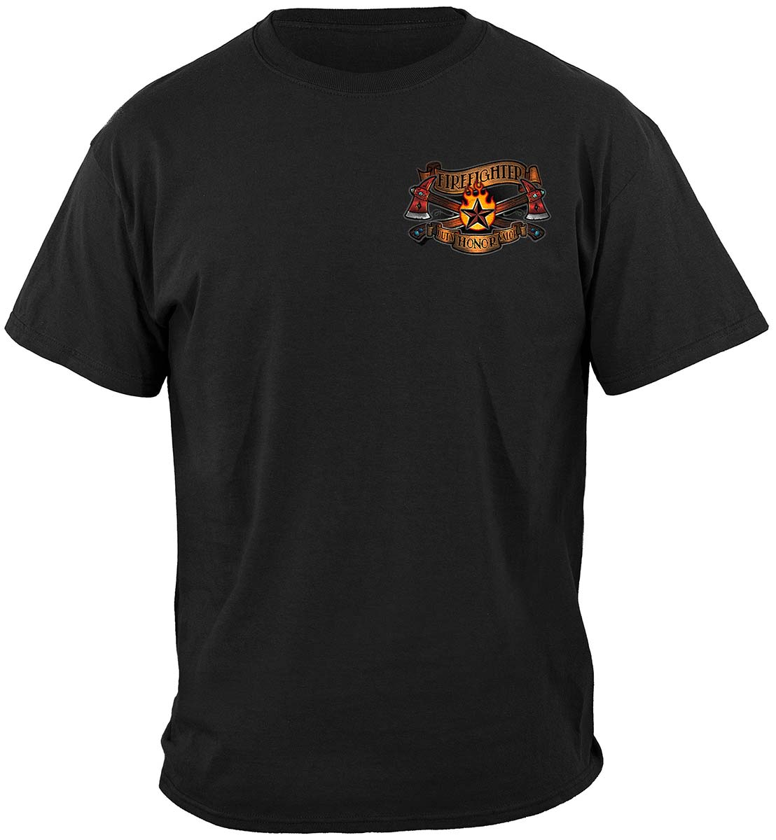 Firefighter Tattoo Vintage Ink Premium Long Sleeves
