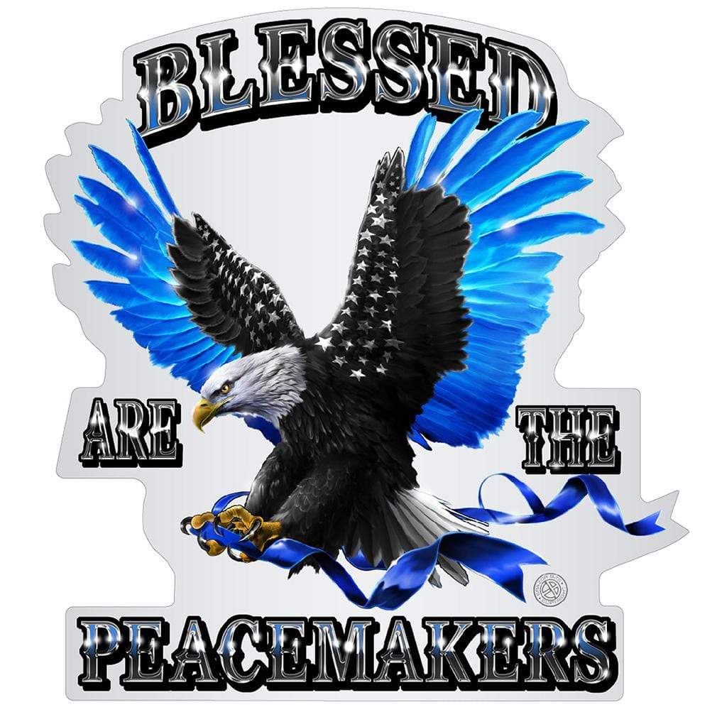 Blessed Are the Peace Makers Premium Reflective Decal