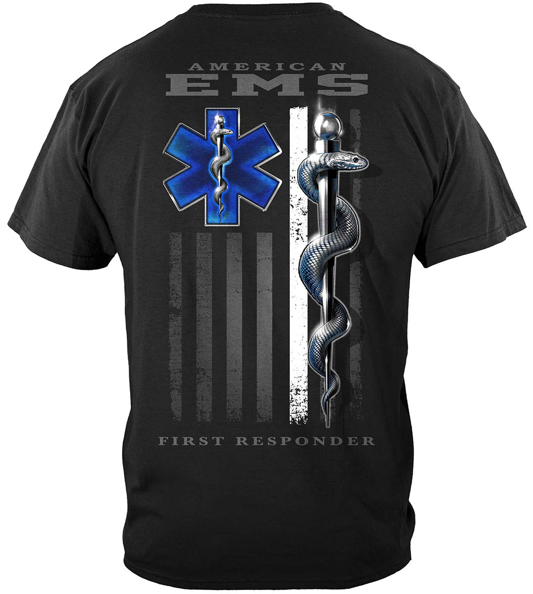 American EMS First Responder Ghost Flag Premium T-Shirt