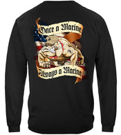 USMC SECOND TO NONE  LICENSED MARINES  LONG SLEEVE T Shirt PATRIOTIC USA