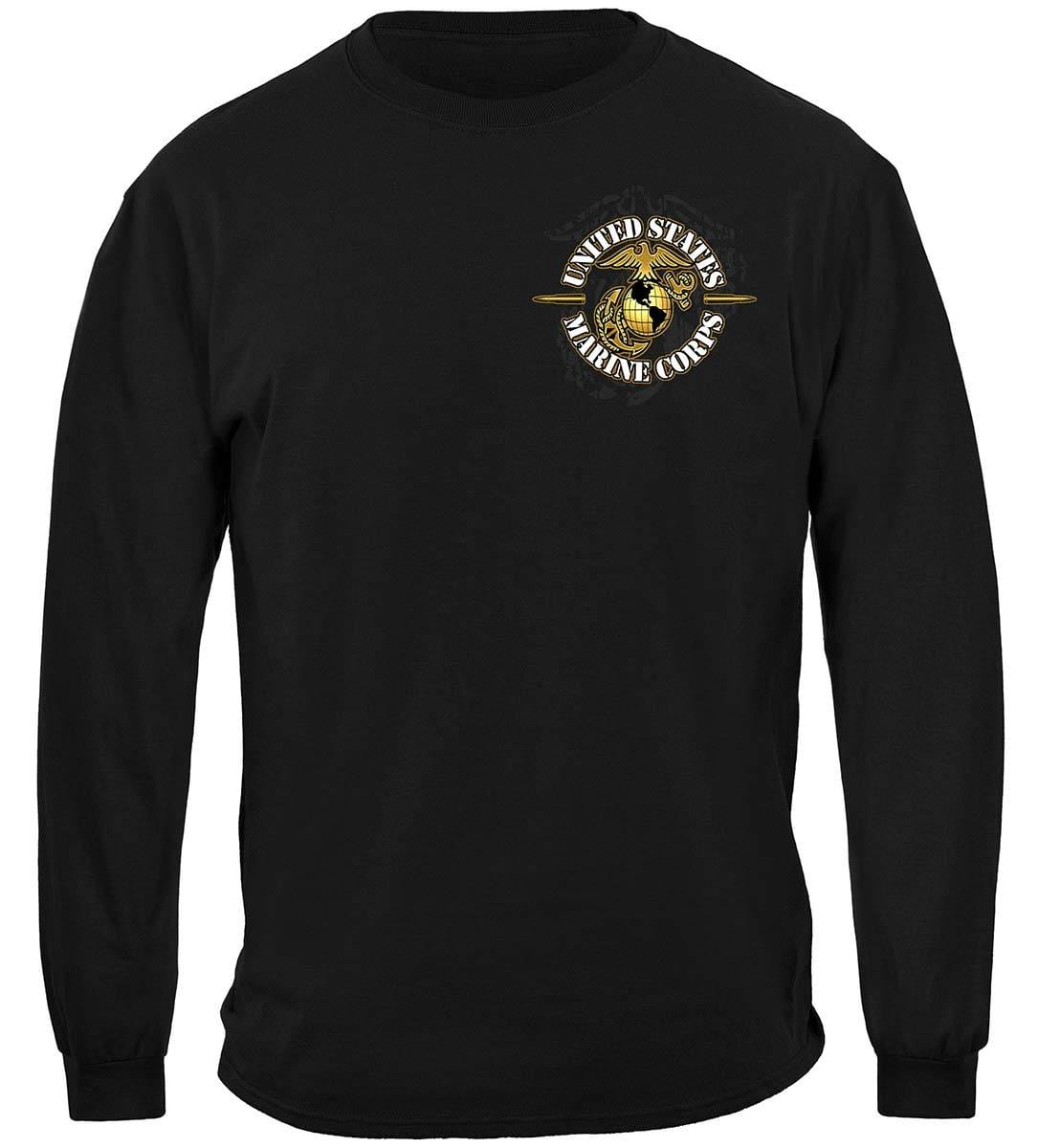 Never Retreat Never Surrender Marine Corps Premium Long Sleeves