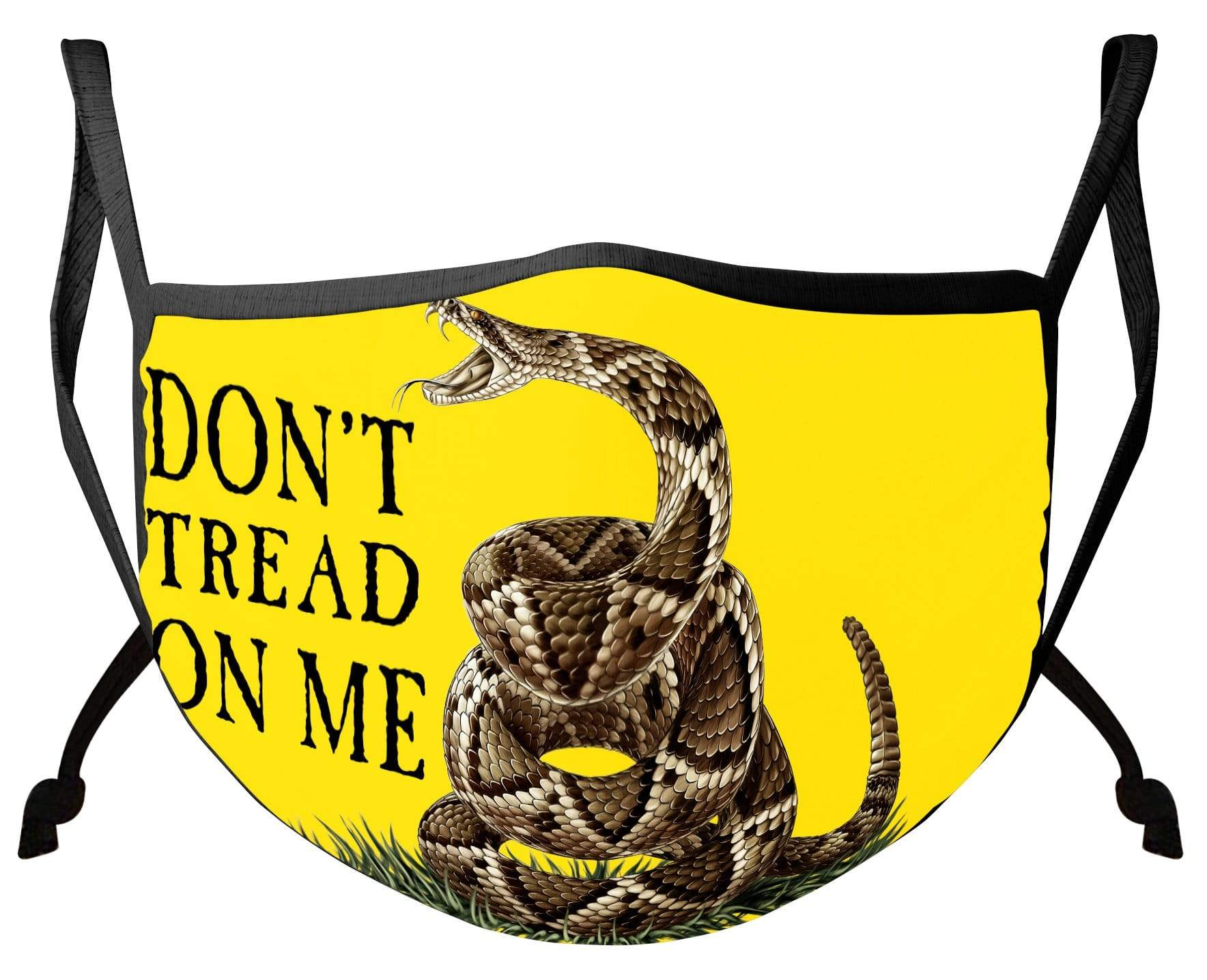 Don't Tread on Me Gadsen Flag Yellow Face Mask
