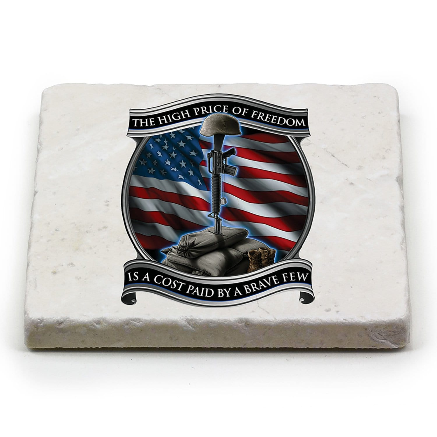 Soldiers Cross Coaster Ivory