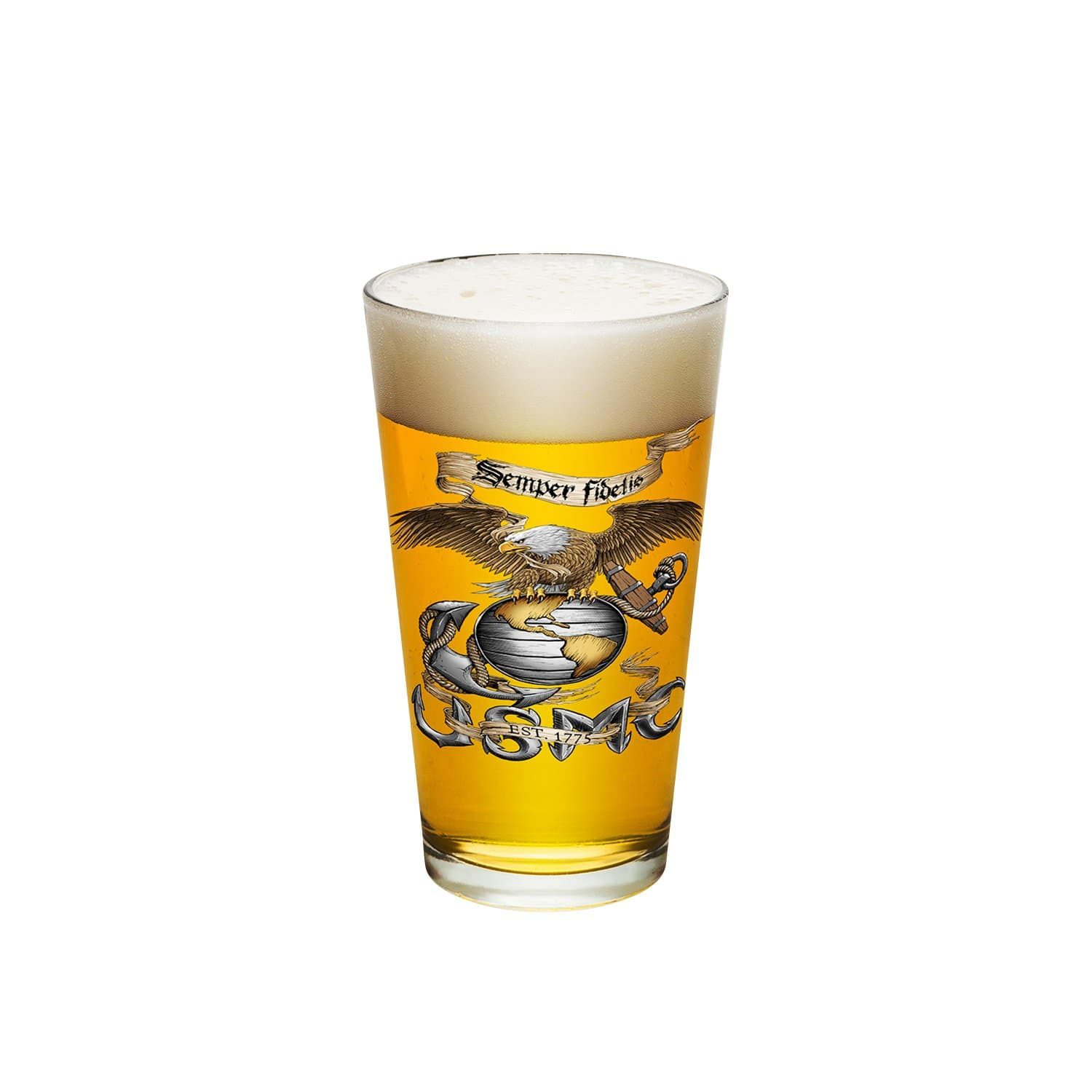Eagle USMC Pint Glass
