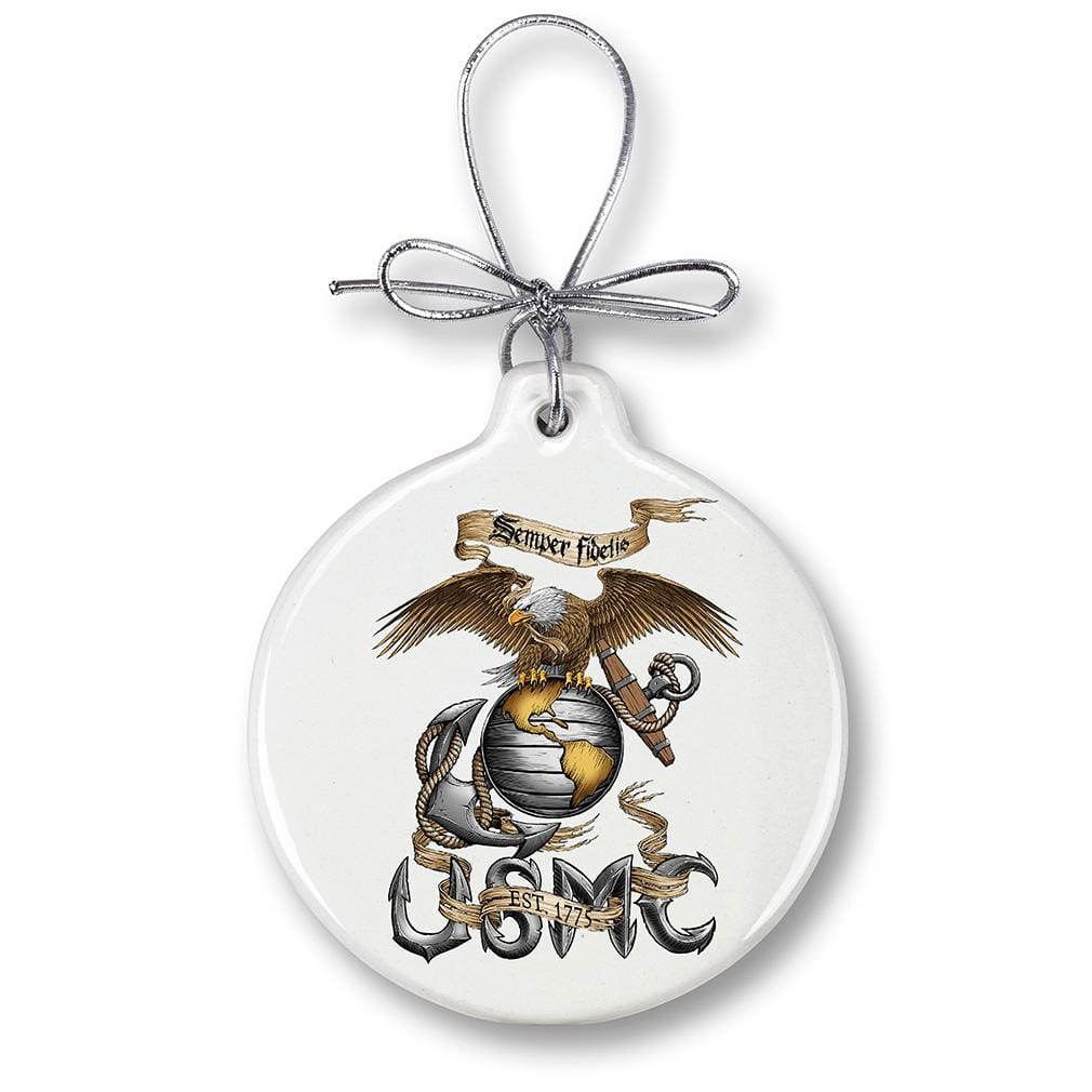 USMC Marine Corps Eagle Christmas Tree Ornaments