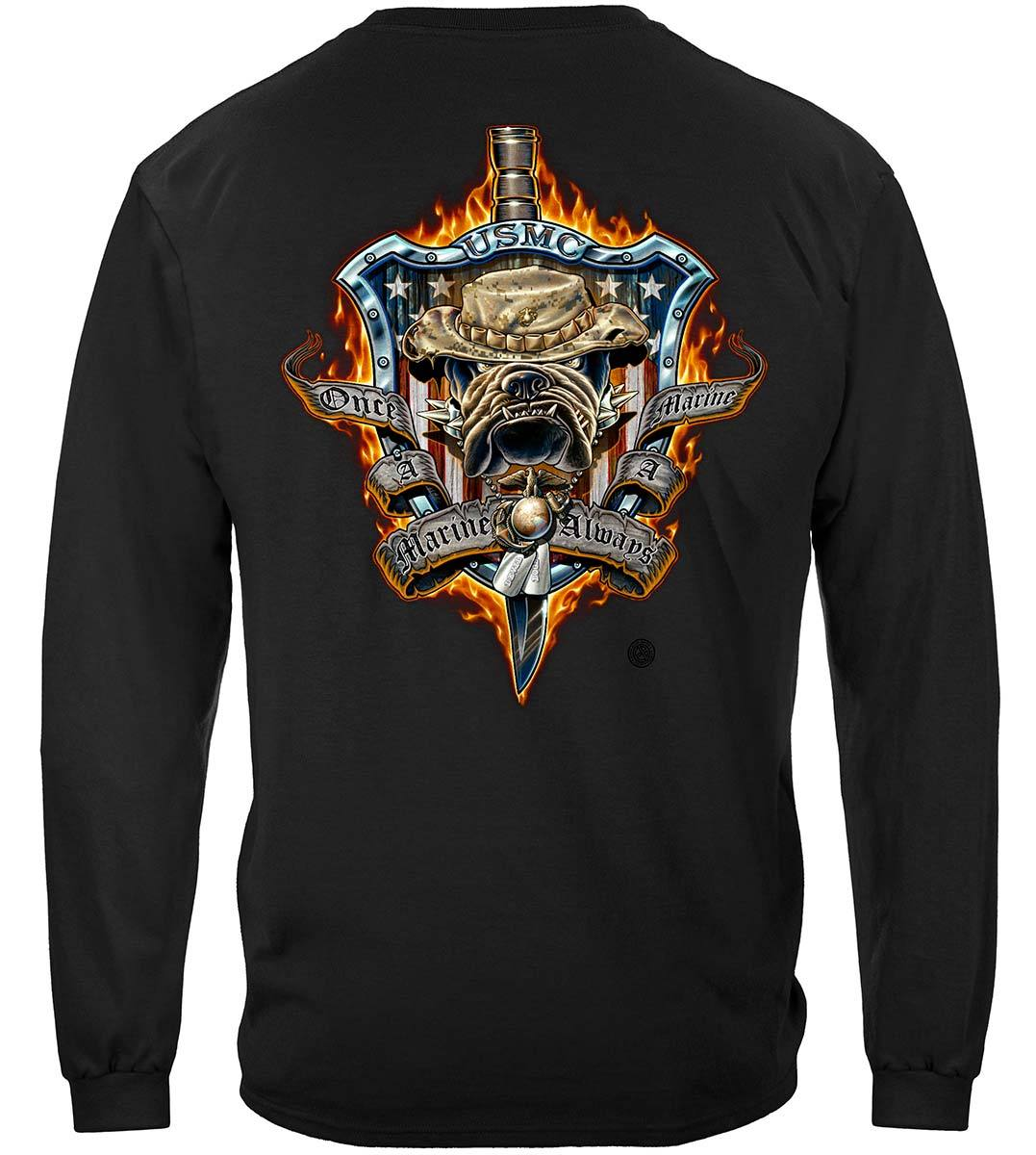 Once And Always A Marine Premium Long Sleeves
