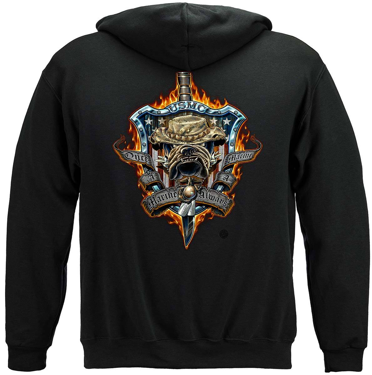 Once And Always A Marine Premium Hooded Sweat Shirt