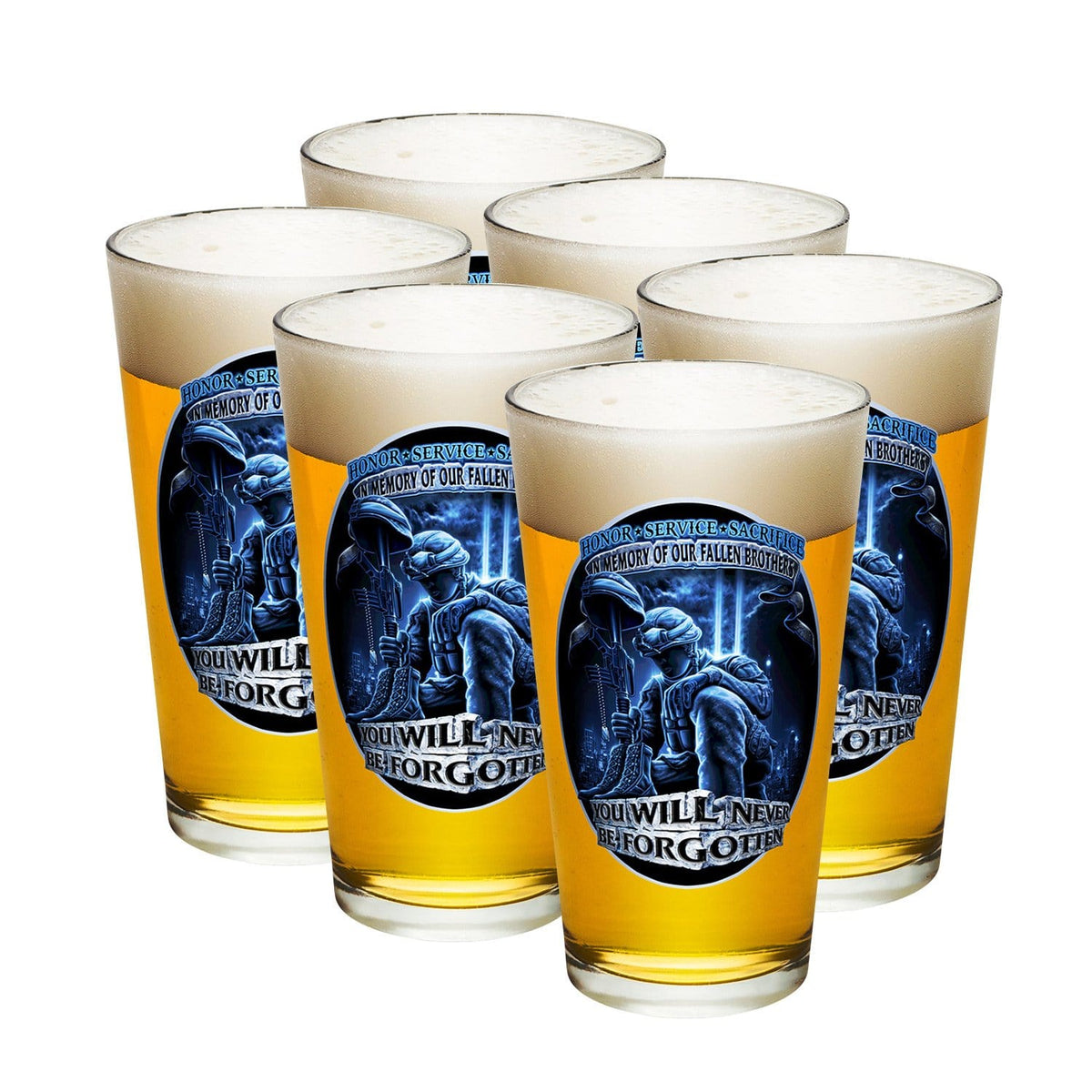 You Will Never Be Forgotten Pint Glass