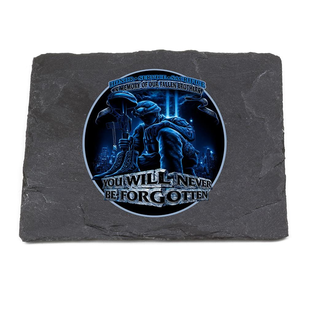 Soldier You Will Never Be Forgotten Coaster Black