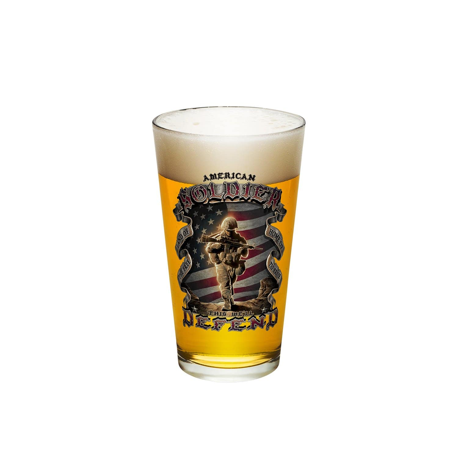 American Soldier Pint Glass