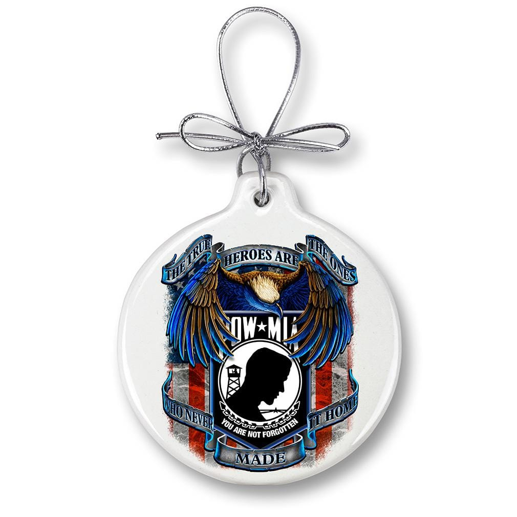 POW True Heroes Christmas Tree Ornaments