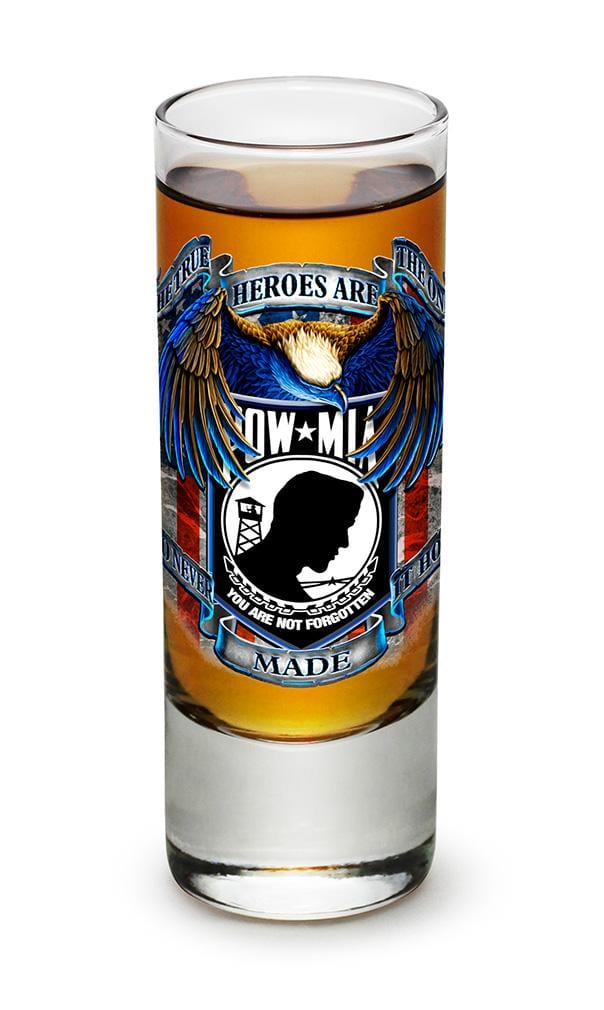 POW MIA True Heroes 2oz Shooter Shot Glass Glass Set