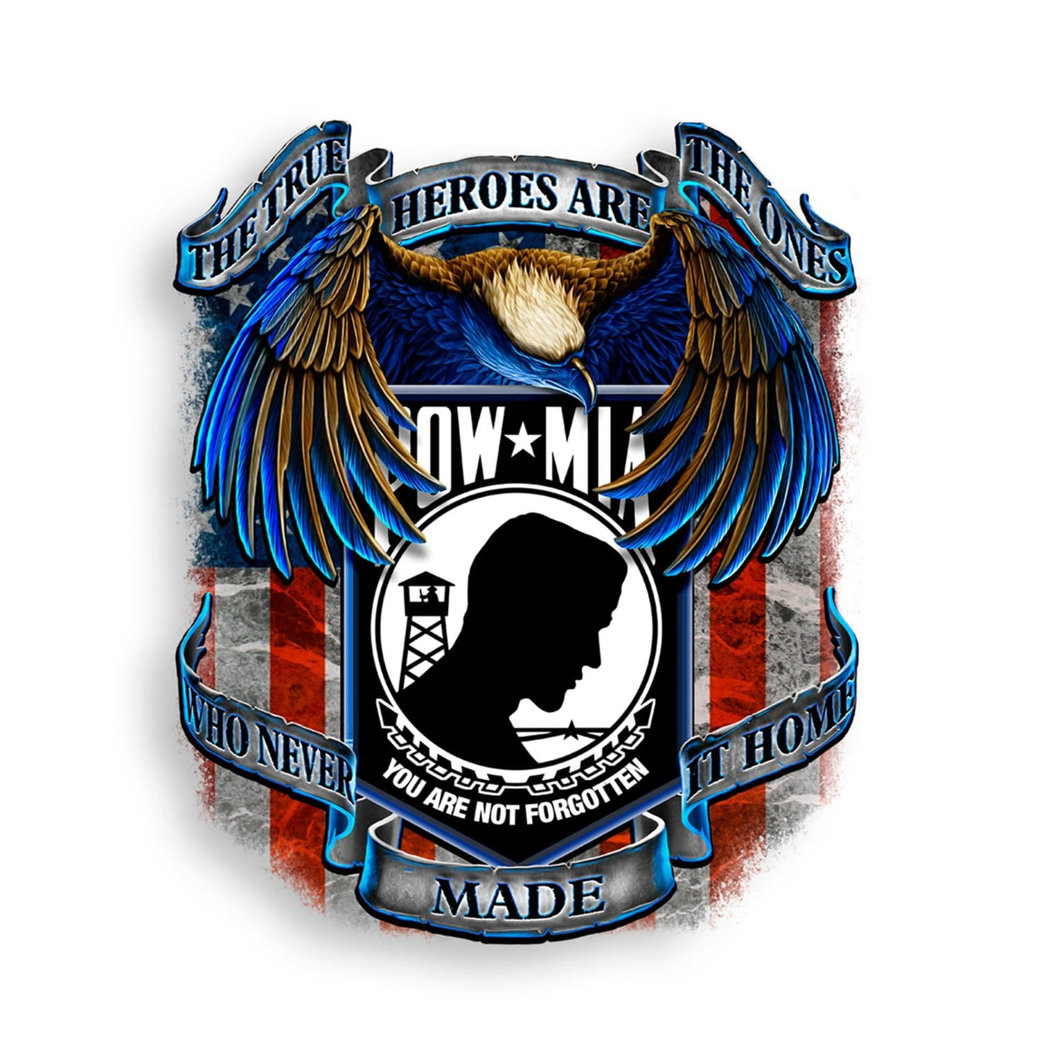 POW True Heroes Reflective Decal