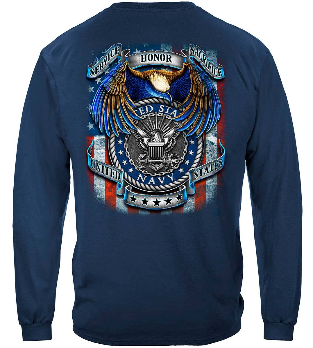 True Heroes Navy Premium Hooded Sweat Shirt