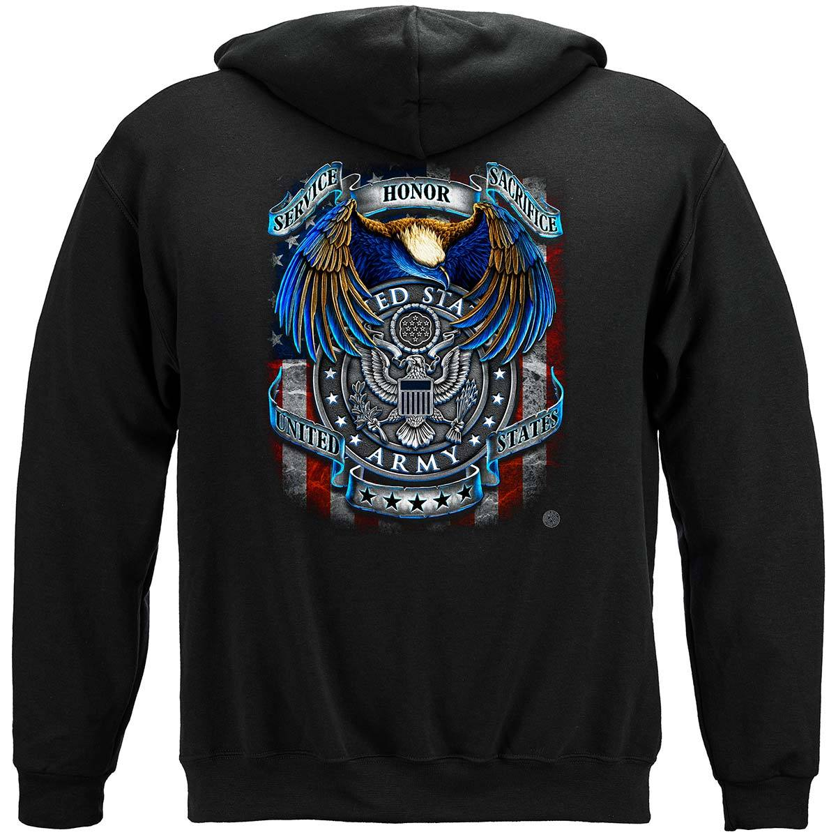 True Heroes Army Premium Hooded Sweat Shirt