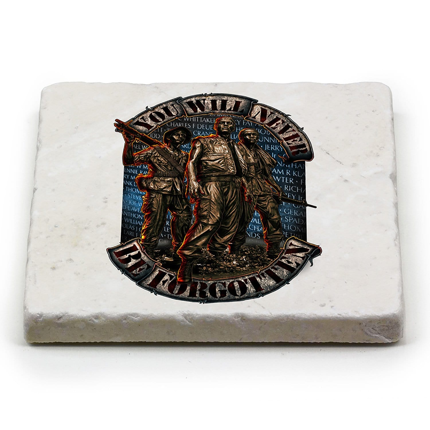 Vietnam Soldier Never Forget Coaster Ivory