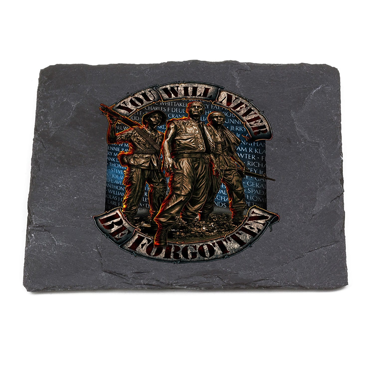 Vietnam Soldier Never Forget Coaster Black