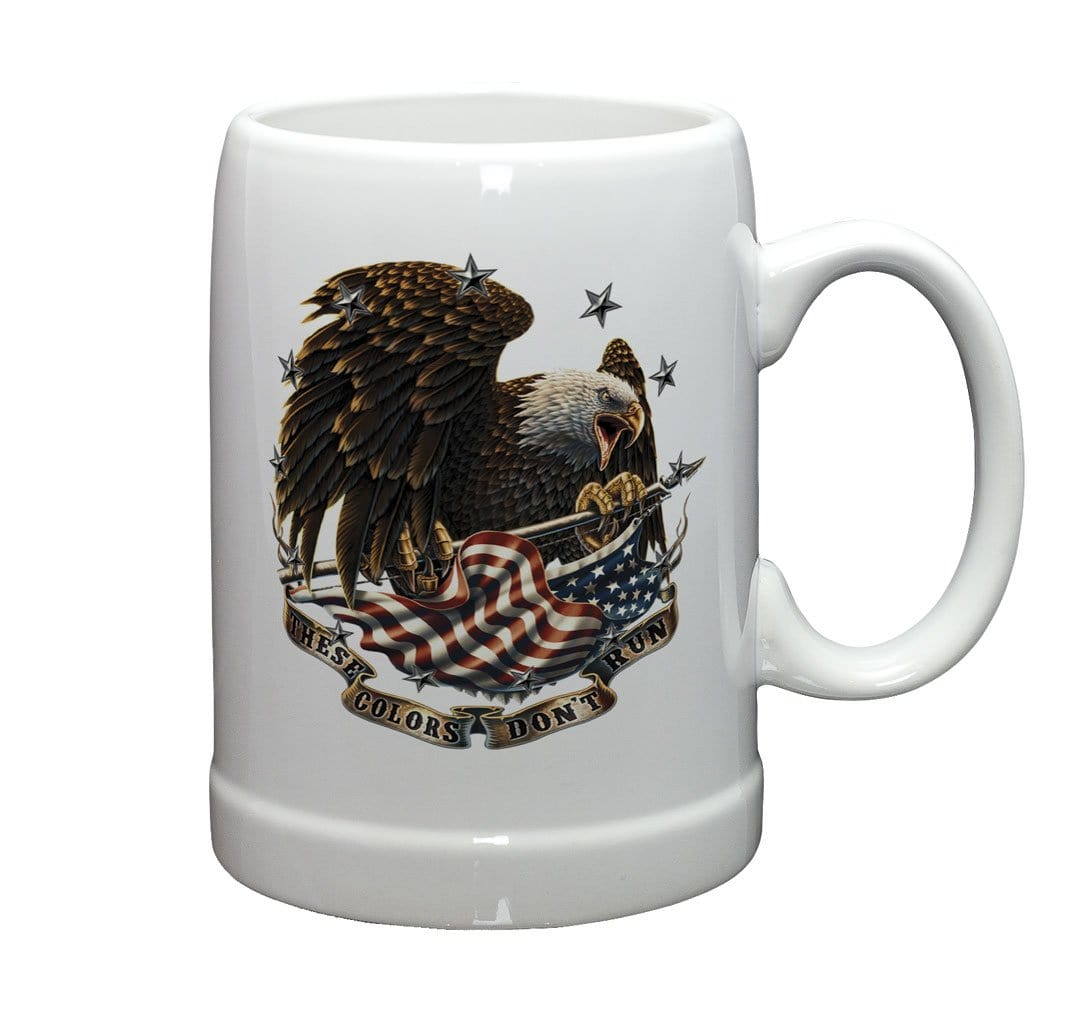Patriotic These Colors Don't Run Stoneware White Coffee Mug Gift Set