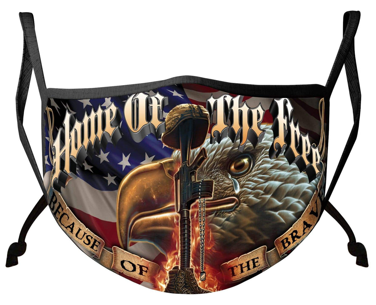 Home Of The Free Because of the Brave Patriotic Face Mask
