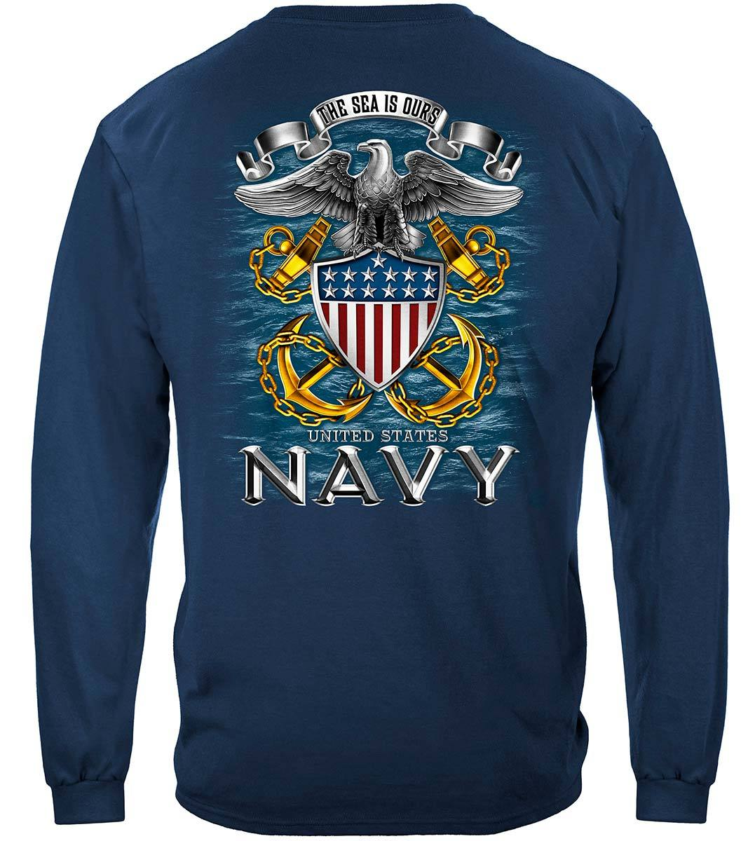 Navy Full Print Eagle Premium T-Shirt