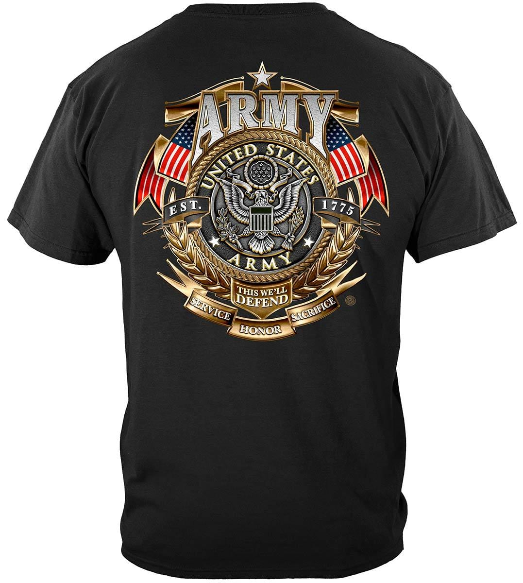 Army Gold Shield Badge Of Honor Premium T-Shirt